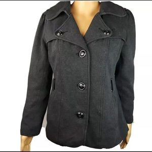 Gray Kenneth Cole Reaction Womens Jacket Coat M